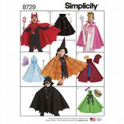 8729 Simplicity Pattern: Kids' Cape Costumes